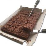 Chocolate Brownie Bake in a Box Slicing