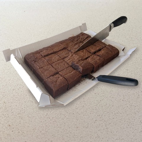 Chocolate Brownie Bake in a Box Ingredients on Board